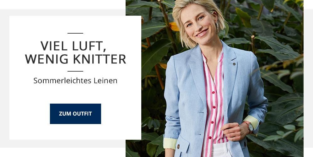 Outfit Viel Luft, wenig Knitter | Walbusch