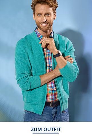 Outfit Zip-Strickjacke-Soft-Cotton | Walbusch