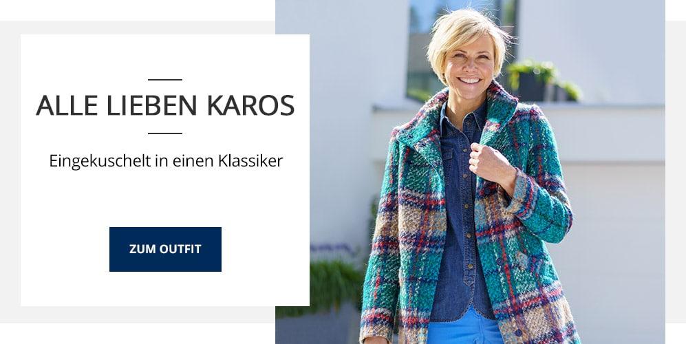 Outfit TV Karo-Wolljacke-Multicolor | Walbusch