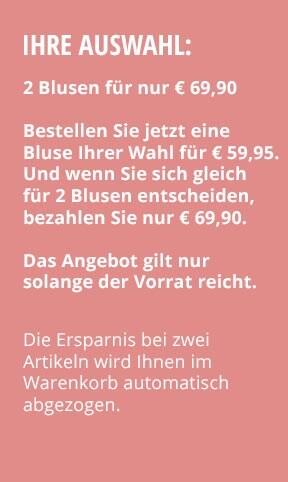 Jetzt testen: 2 Blusen nur € 69,90 | Walbusch