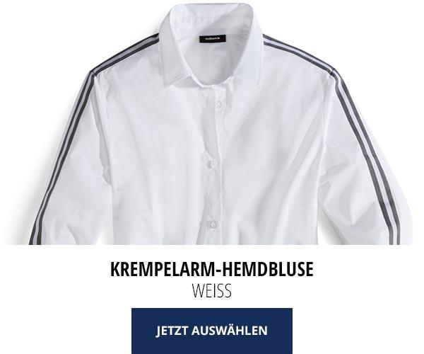 Sommerblusen nur 29,95€: Krempelarm-Hemdbluse   Walbusch