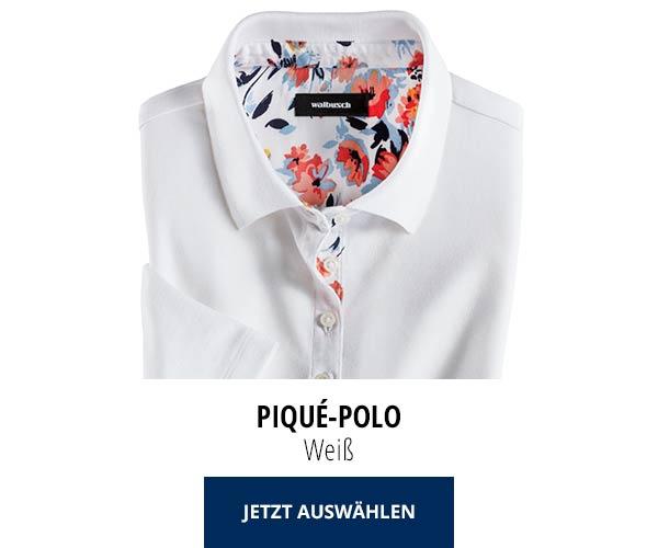 Piqué-Polo Sommer-Cotton Weiß | Walbusch
