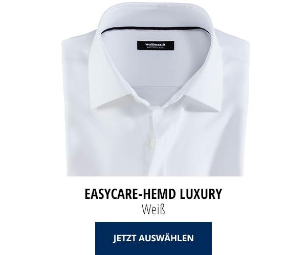 Easycare-Hemd Luxury - Weiß