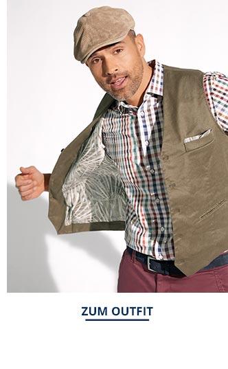 Outfit Künstler-Weste-Leinenmix   Walbusch