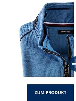 Wohlfühl-Pullover French-Rib, Mittelblau