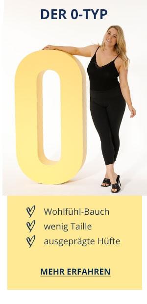 Der O-Typ: Wohlfühl-Bauch, wenig Taille, ausgeprägte Hüfte