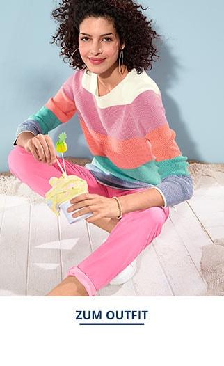 Outfit Sommerpullover-Blockstreifen   Walbusch
