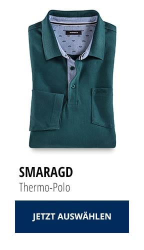 Jetzt testen: 2 Thermo-Polos nur € 79,90: Smaragd   Walbusch