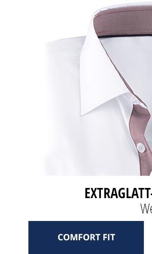Extraglatt-Hemd Kent Comfort Fit, Weiß | Walbusch