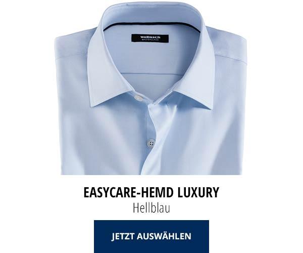 Easycare-Hemd Luxury - Hellblau