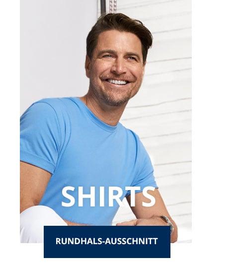 Herren T-Shirt Rundhals-Ausschnitt   Walbusch