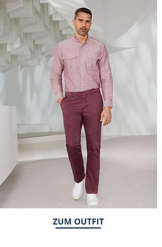 Outfit Künstler-Stehkragen-Hemd   Walbusch