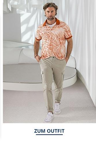 Outfit Künstlerdruck-Polo   Walbusch
