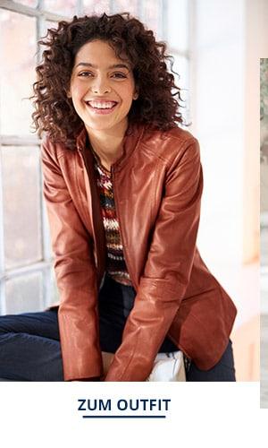 Outfit Trendfarben Lammnappa Jacke | Walbusch