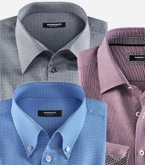 Bügelfreie Hemden mit verschiedenen Kragenformen | Walbusch