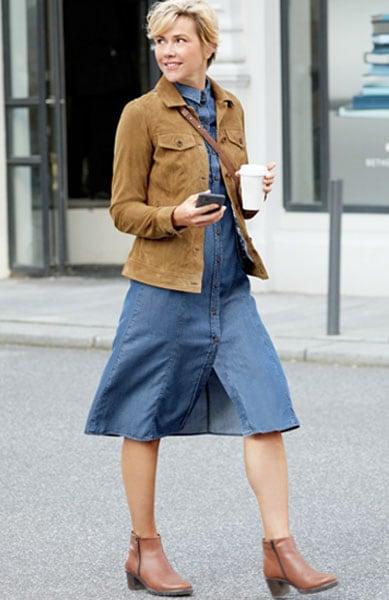 Smarte Kombinationen, die Ihr Kleid modisch in Szene setzen   Walbusch