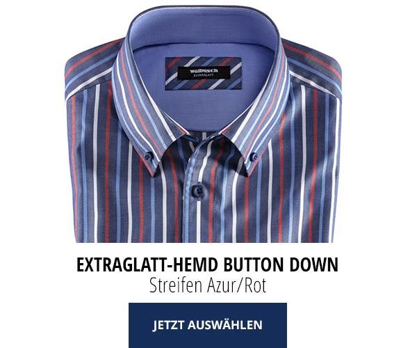 Hemd Streifen Azur/Rot - 2 kaufen nur € 79,90