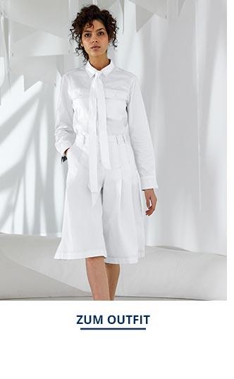 Outfit Pima-Cotton-Hemdbluse-Palme | Walbusch