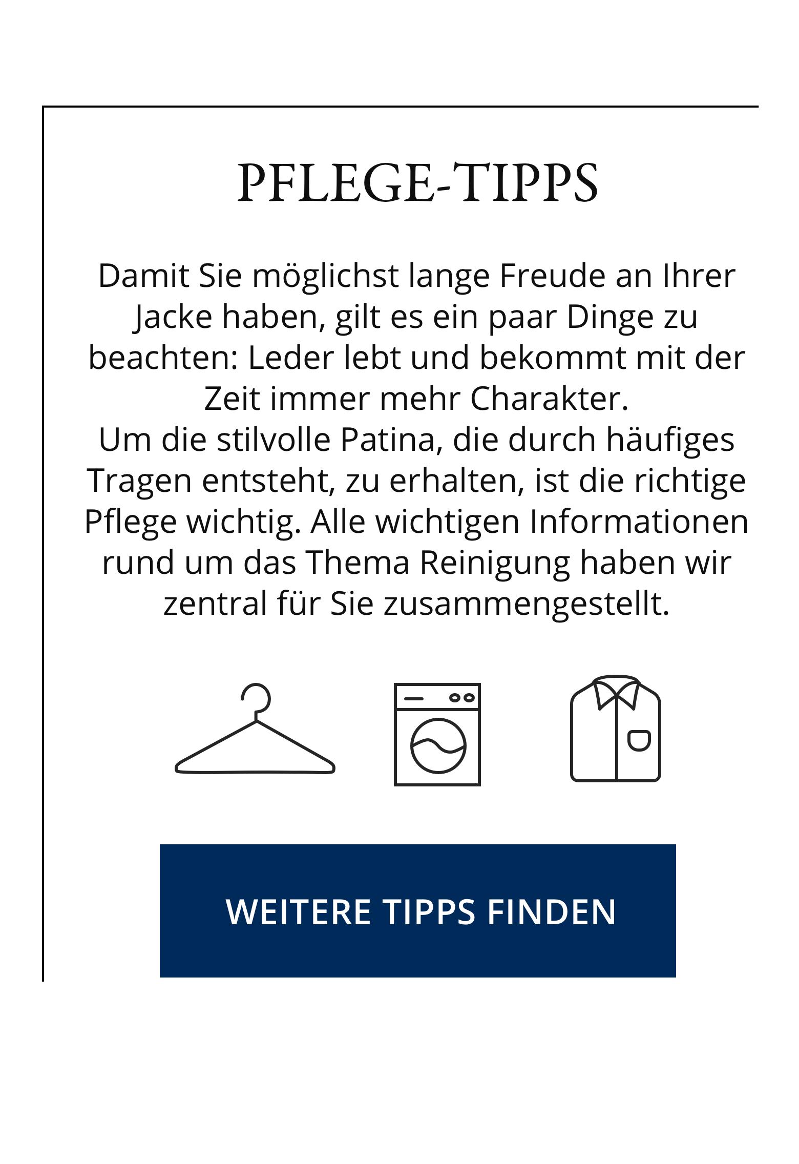 Leder - Pflege-Tipps   Walbusch