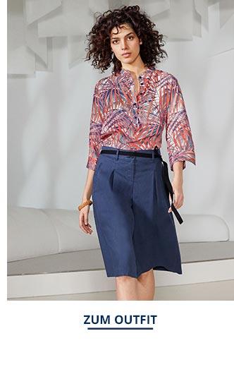 Outfit Viskose-Shirtbluse-Künstlerdruck | Walbusch