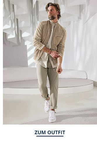 Outfit Veloursleder-Artwork-Blouson   Walbusch