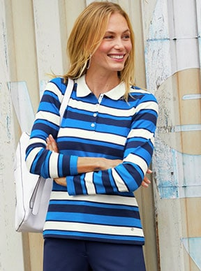 Poloshirts für Damen: Sportlichkeit des Shirts & Eleganz der Hemdbluse | Walbusch