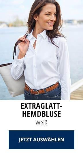 Extraglatt-Hemdbluse Weiß | Walbusch