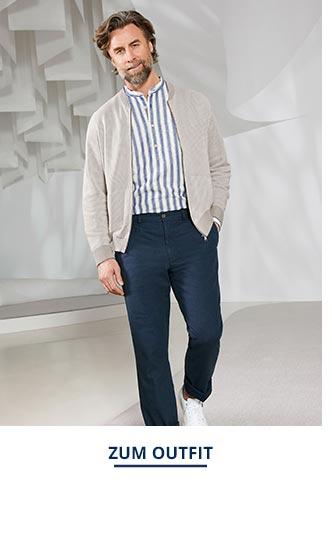Outfit Strick-Blouson-Atelier   Walbusch