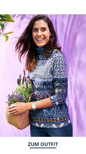 Outfit Trendfarben Viskoserolli Paisley | Walbusch