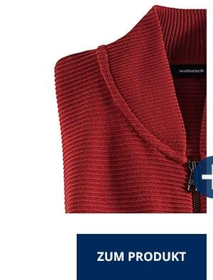 Zip-Jacke Ottoman, Rot