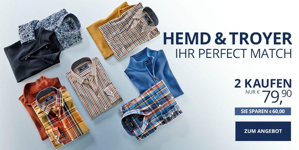 Perfect Match Pullover + Hemd   Walbusch