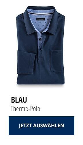 Jetzt testen: 2 Thermo-Polos nur € 79,90: Blau   Walbusch