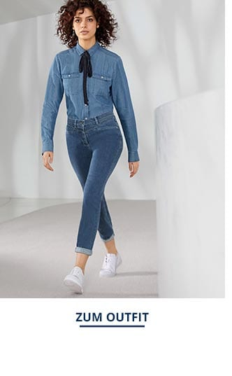 Outfit Lyocell Jeansbluse Extraleicht | Walbusch