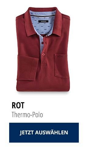 Jetzt testen: 2 Thermo-Polos nur € 79,90: Rot   Walbusch