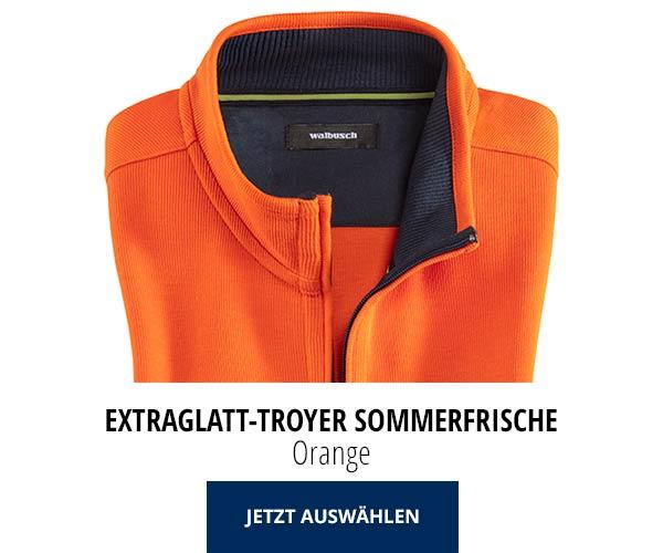 Extraglatt-Troyer Sommerfrische Orange | Walbusch