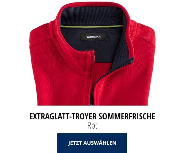Extraglatt-Troyer Sommerfrische Rot | Walbusch