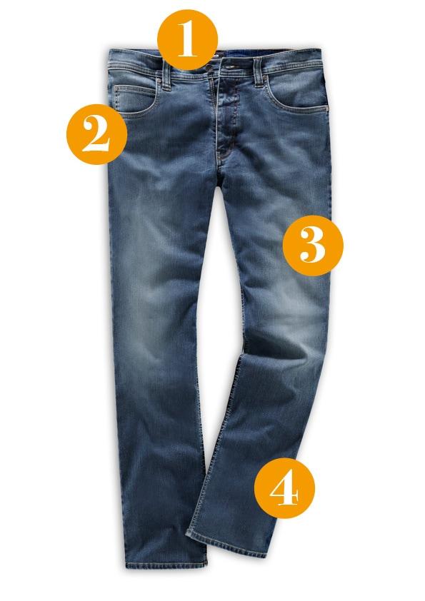 Husky-Jeans mit Nummerierung