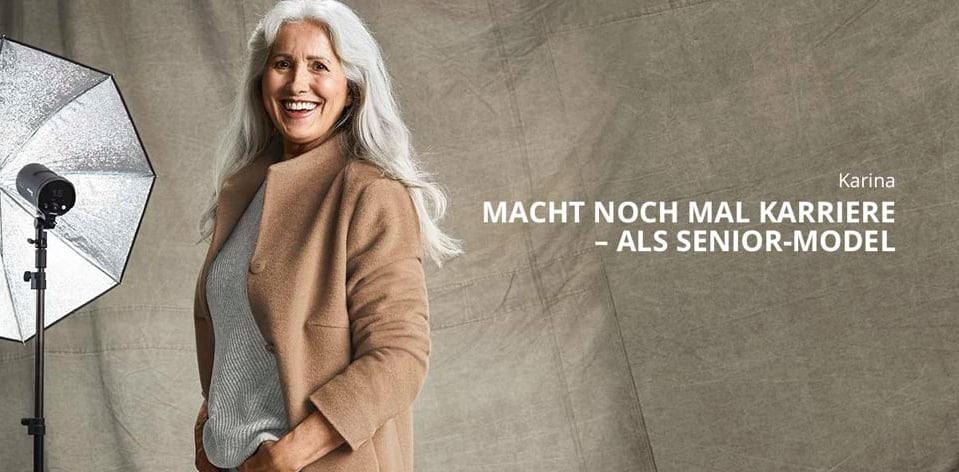 Karina: Macht noch mal Karriere – als Senior-Model.