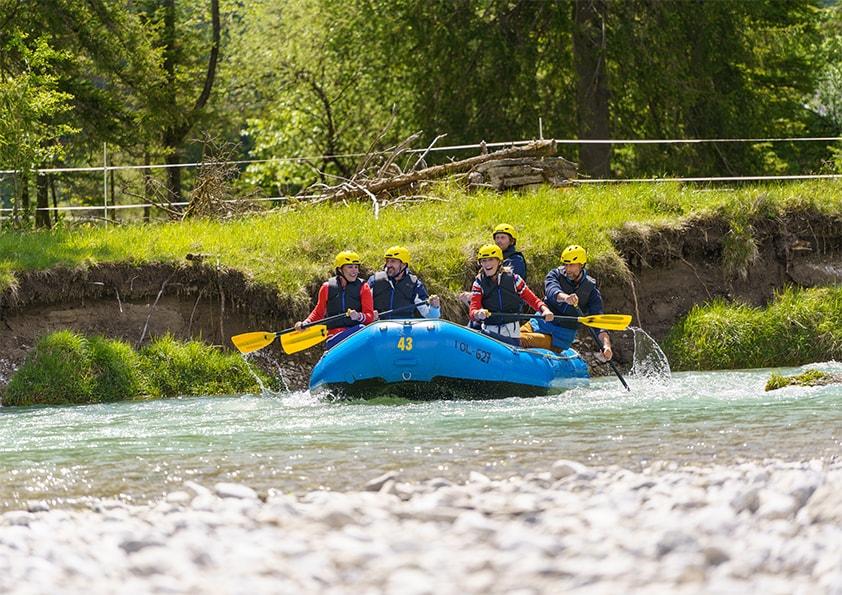 Rafting – paddeln im Wildwasser