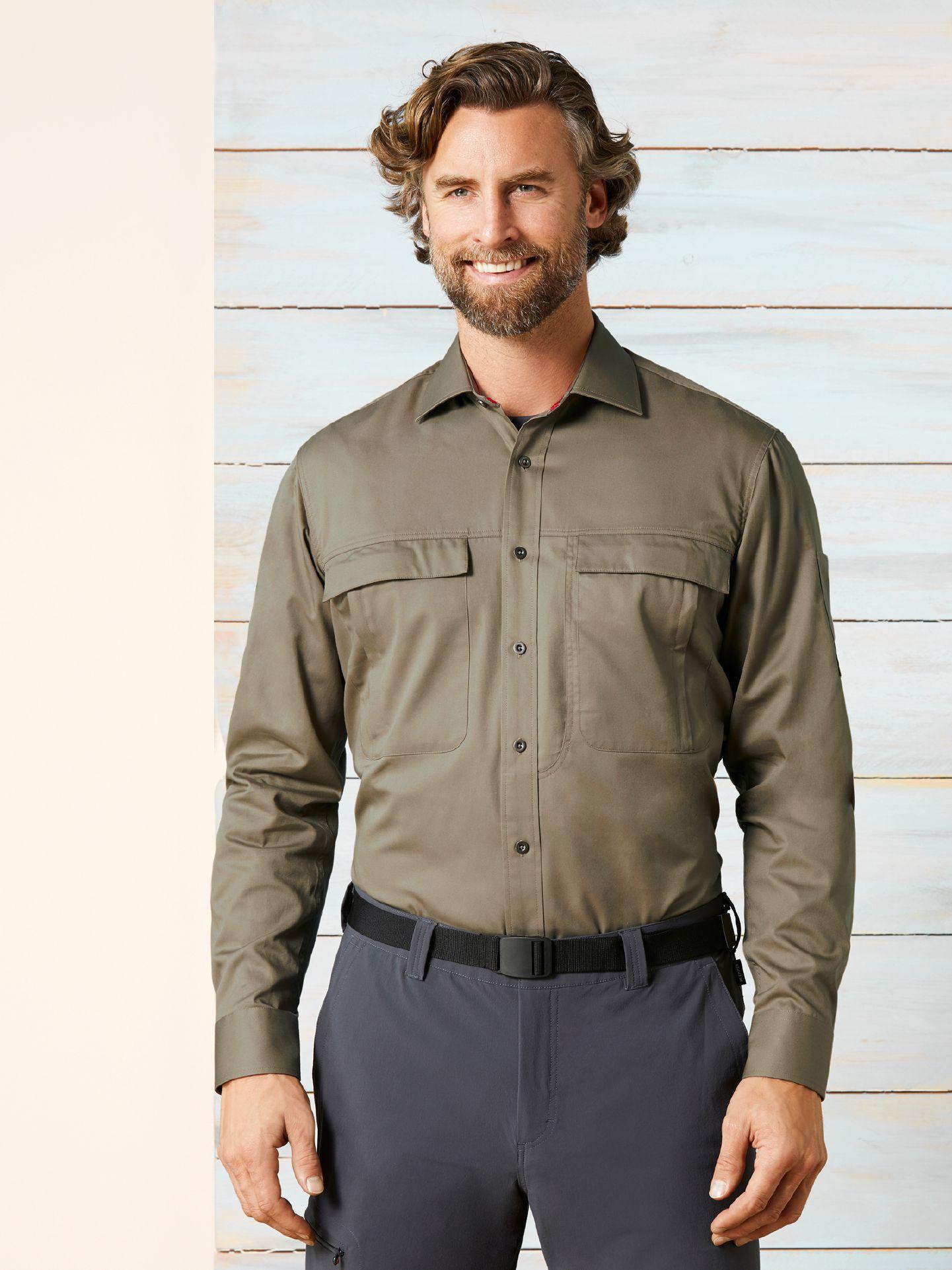 Klepper Herren Touringhemd Cotton Beige Größe 3...