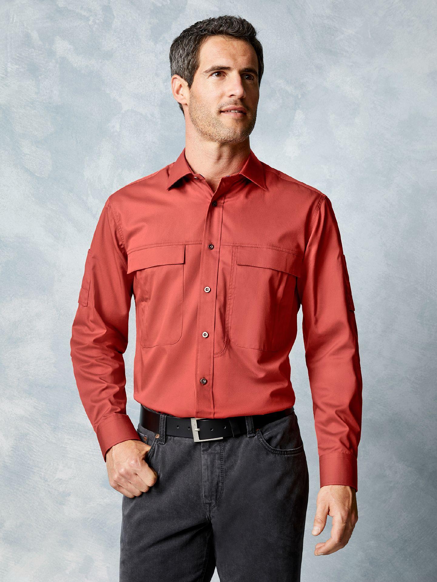 Klepper Herren Touringhemd Cotton Braun Größe 4...