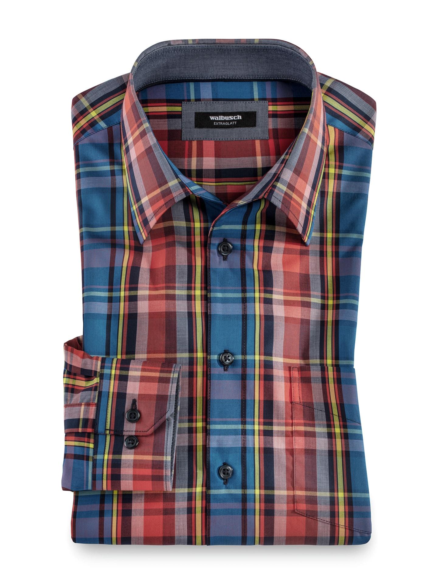 Artikel klicken und genauer betrachten! - Klare, geradlinige Dessins, kräftige Farben: Hemden im Club-Stil. Frische Farbkombinationen machen die Übergangszeit schöner und lassen sich hervorragend kombinieren. Gedruckt auf feinste Baumwolle, bietet das Hemd beste Trage- und Pflegeeigenschaften. Atmungsaktiv und weich liegt es auf der Haut. | im Online Shop kaufen
