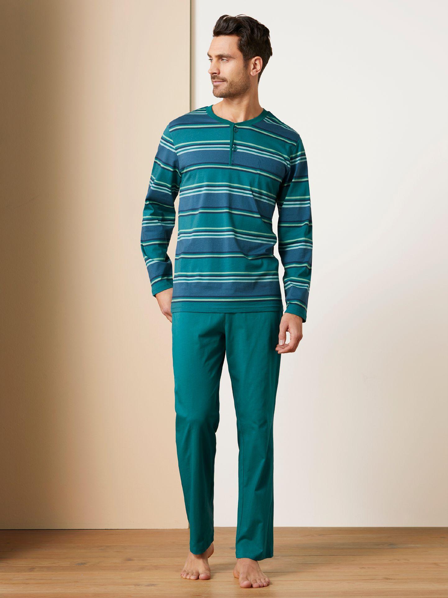 Walbusch Herren Streifen-Pyjama Größe 48