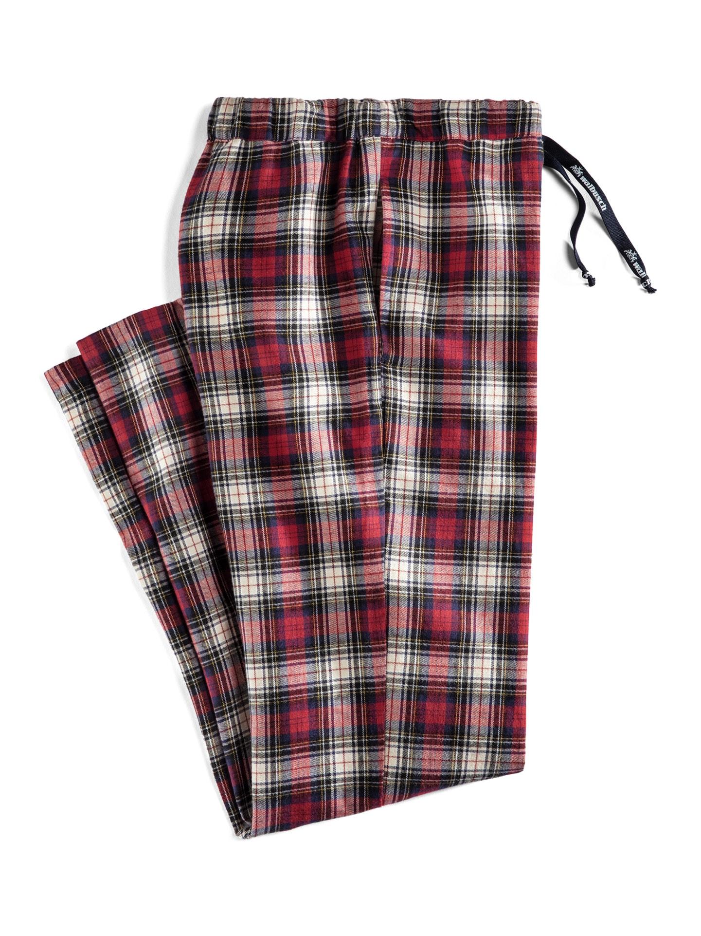 Walbusch Herren Pyjama-Hose Thermo Rot gemustert wärmend 48, 50, 52, 54, 56, 58/60, 62/64 22-1942-4_MV47687
