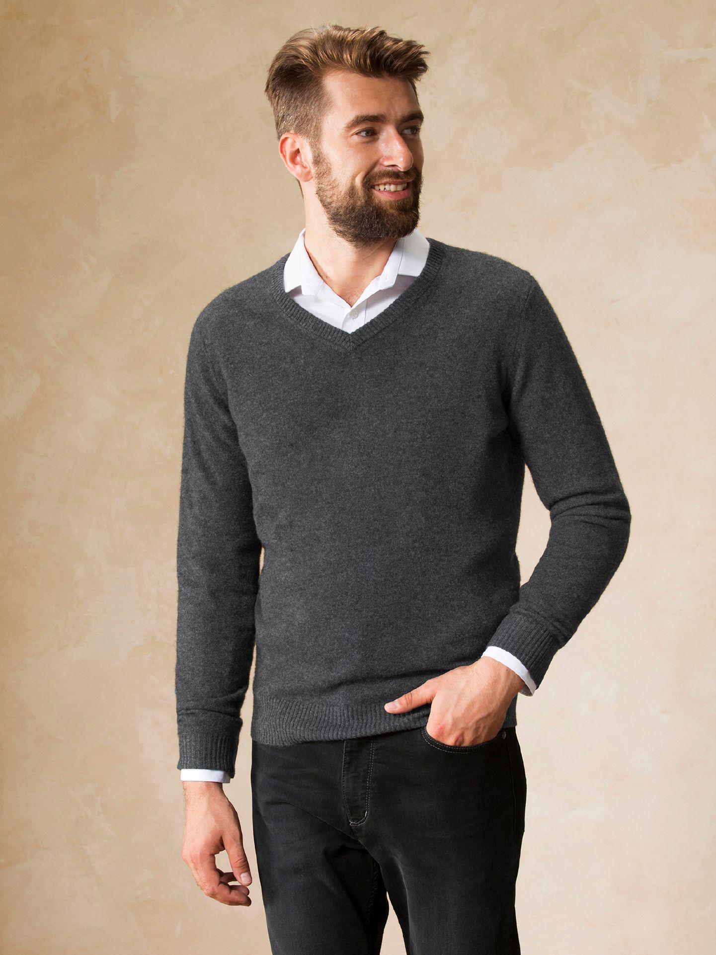 cashmere pullover walbusch anthrazit melange g nstig schnell einkaufen. Black Bedroom Furniture Sets. Home Design Ideas