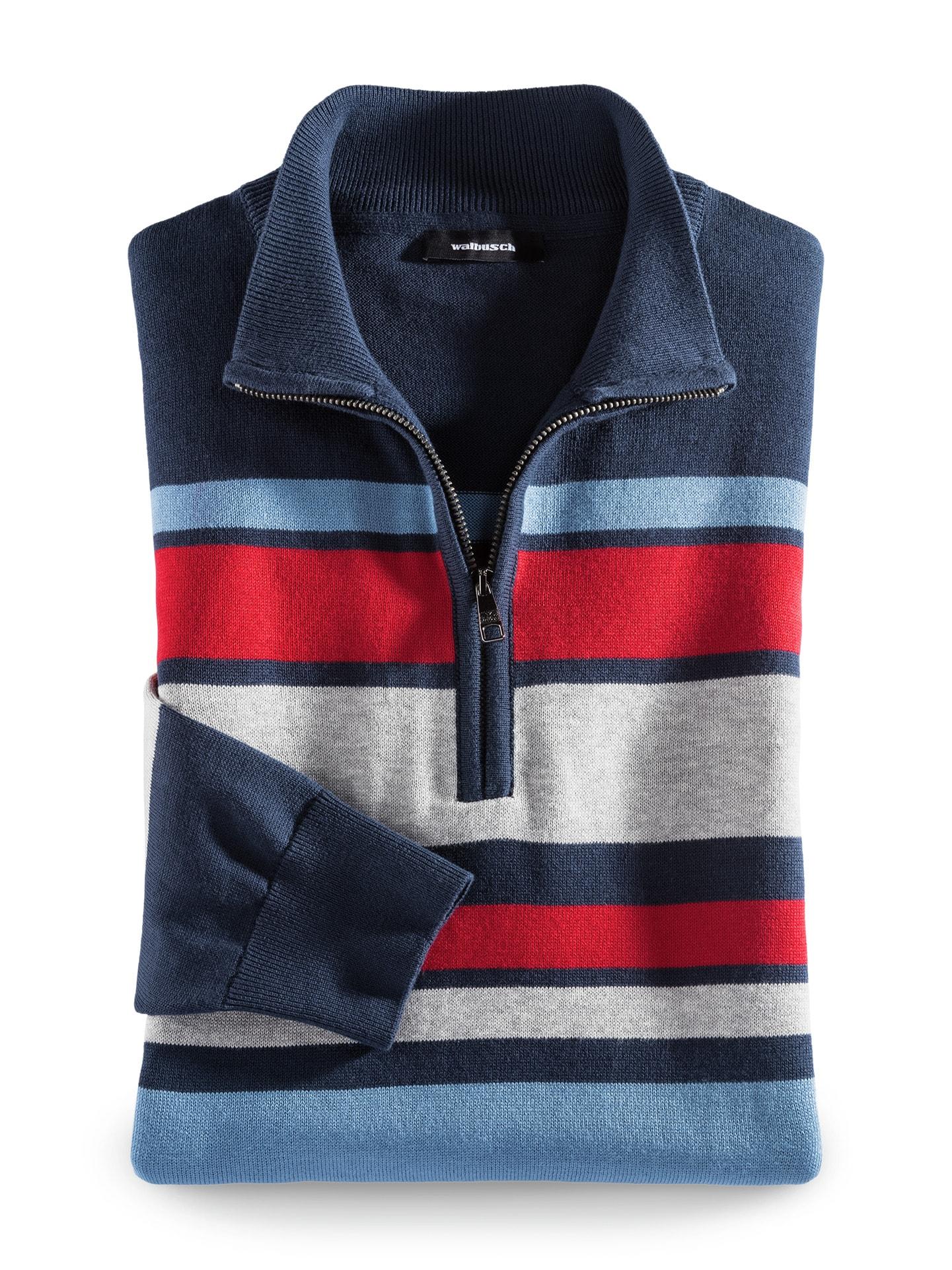 Artikel klicken und genauer betrachten! - Die Segel sind Richtung Langlebigkeit gesetzt. Der gestreifte Troyer ist aus langstapeliger Baumwolle gefertigt, einer extra  hochwertigen Qualität. Sie ist besonders fein, dabei strapazierfähig. Weitere Pluspunkte: Die Farben bleiben leuchtend, der Pullover pillt nicht und behält die Form. Kleiner Tipp: Nach der Wäsche lassen Sie den Troyer einfach liegend trocknen. Optisch bringen die Streifen frischen Wind in Ihre Garderobe. | im Online Shop kaufen