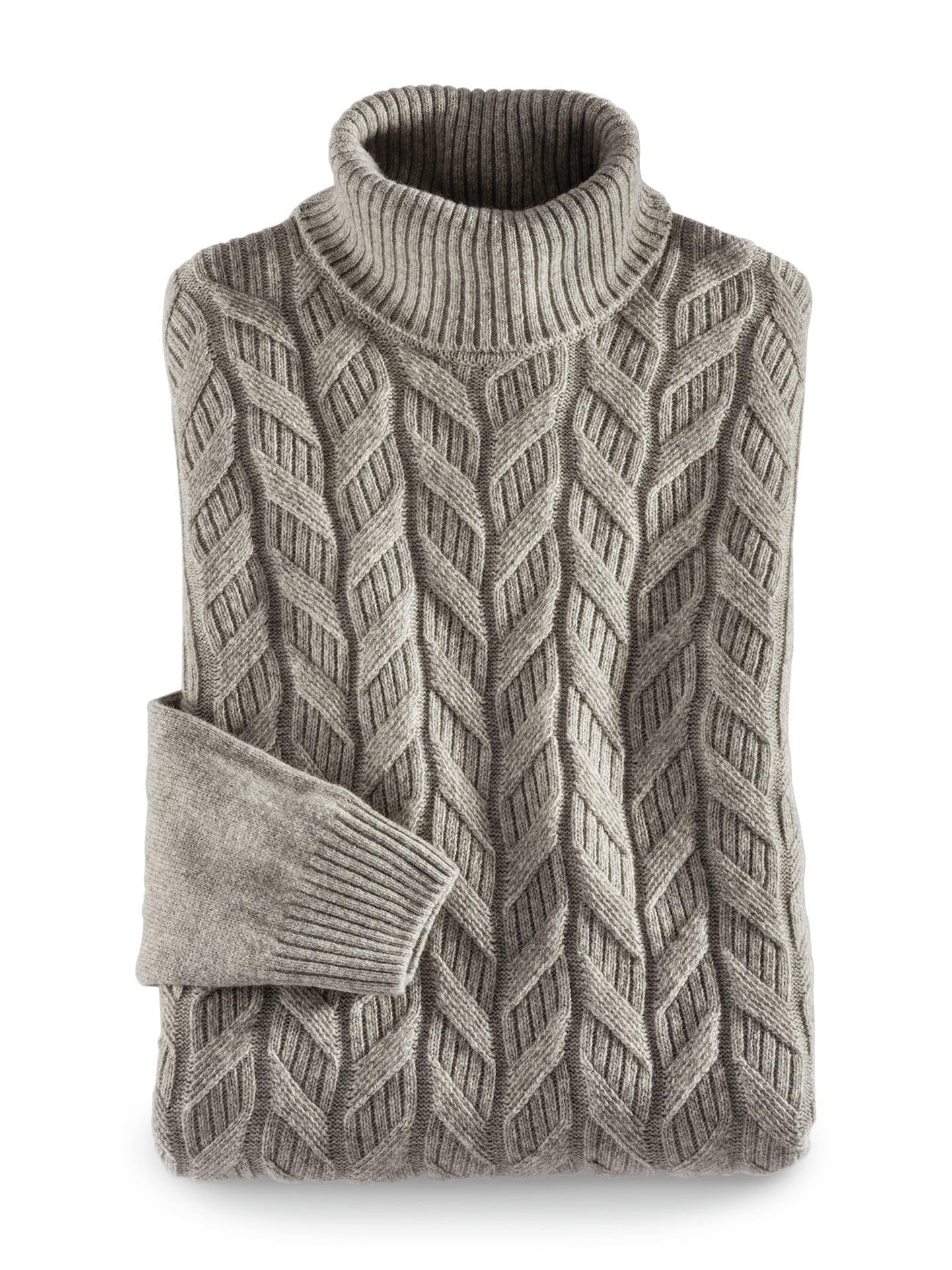 Walbusch Herren Zopf Pullover Himalaya Wolle einfarbig Natur 48, 50, 52, 54, 56, 58/60, 62/64 23-5170-6