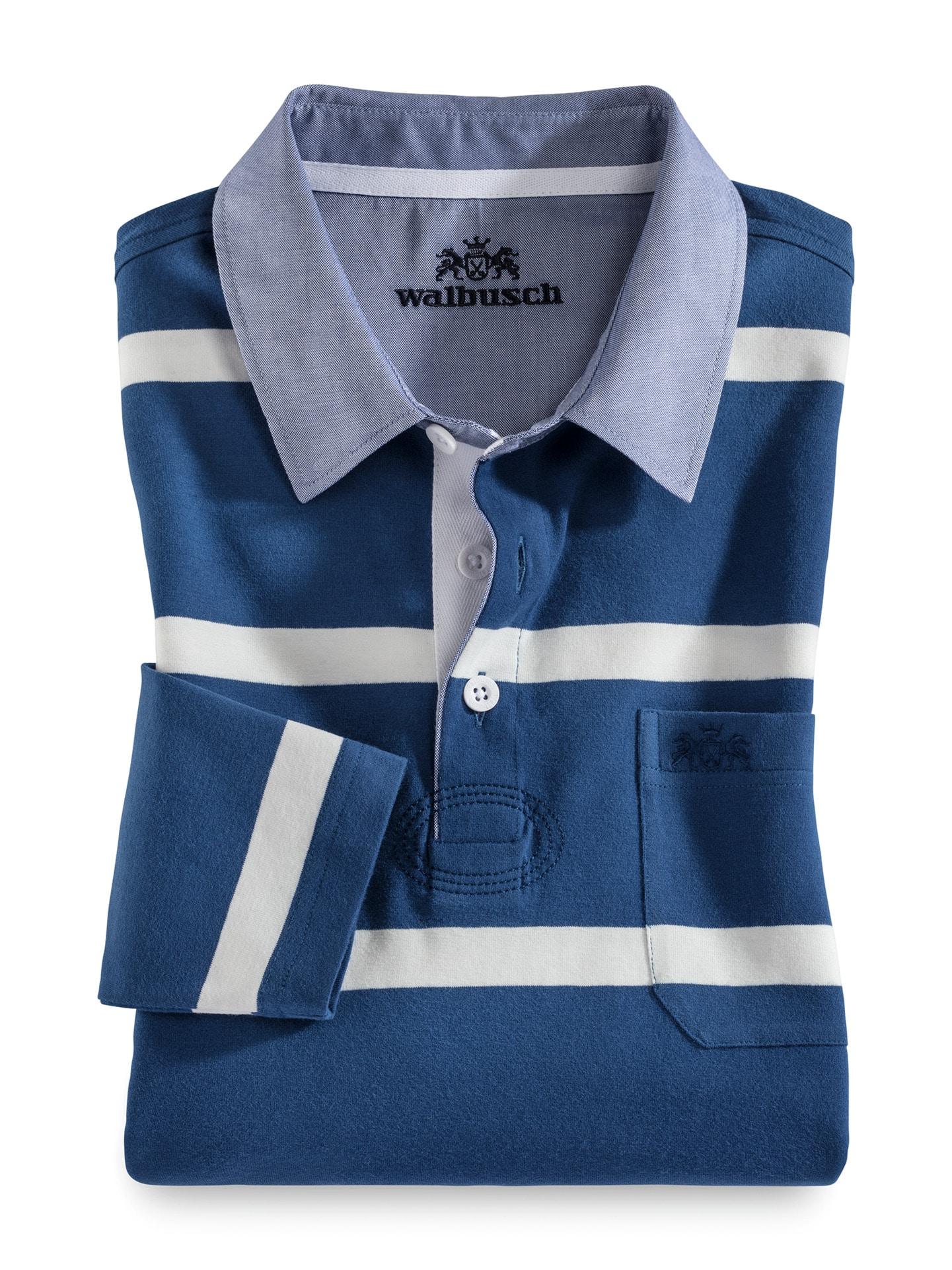 Walbusch Herren Streifen Shirt Supersoft gestreift Königsblau gestreift 48, 50, 52, 54, 56, 58/60, 62/64 23-5522-3