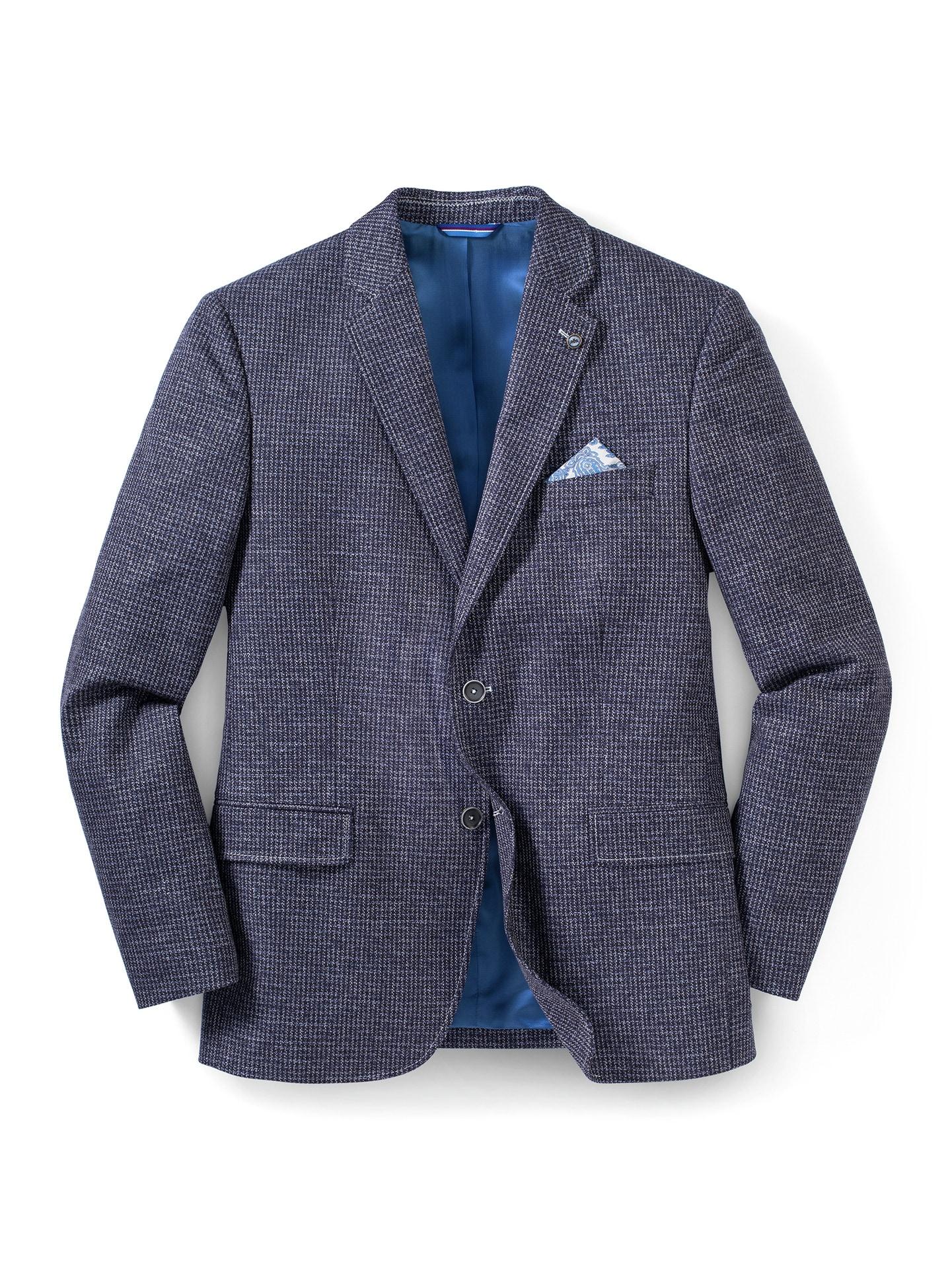 Walbusch Herren Semi Dress Sakko gemustert Blau Gemustert 24, 25, 26, 27, 28, 29, 48, 50, 52, 54, 56, 58 24-3426-5