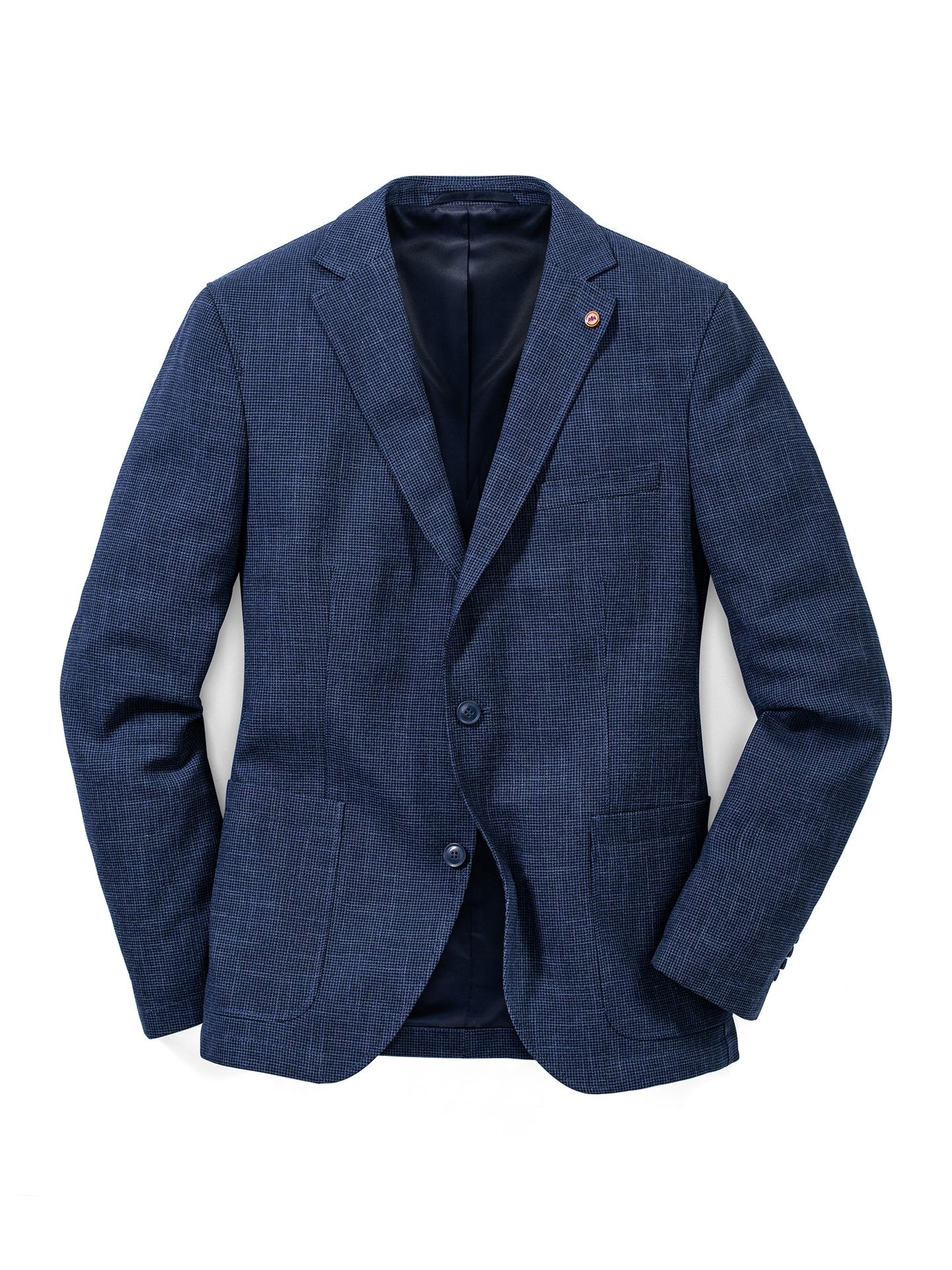 Walbusch Herren Sakko wash and wear gemustert Jeansblau 24, 25, 26, 27, 28, 29, 48, 50, 52, 54, 56, 58 24-3473-9